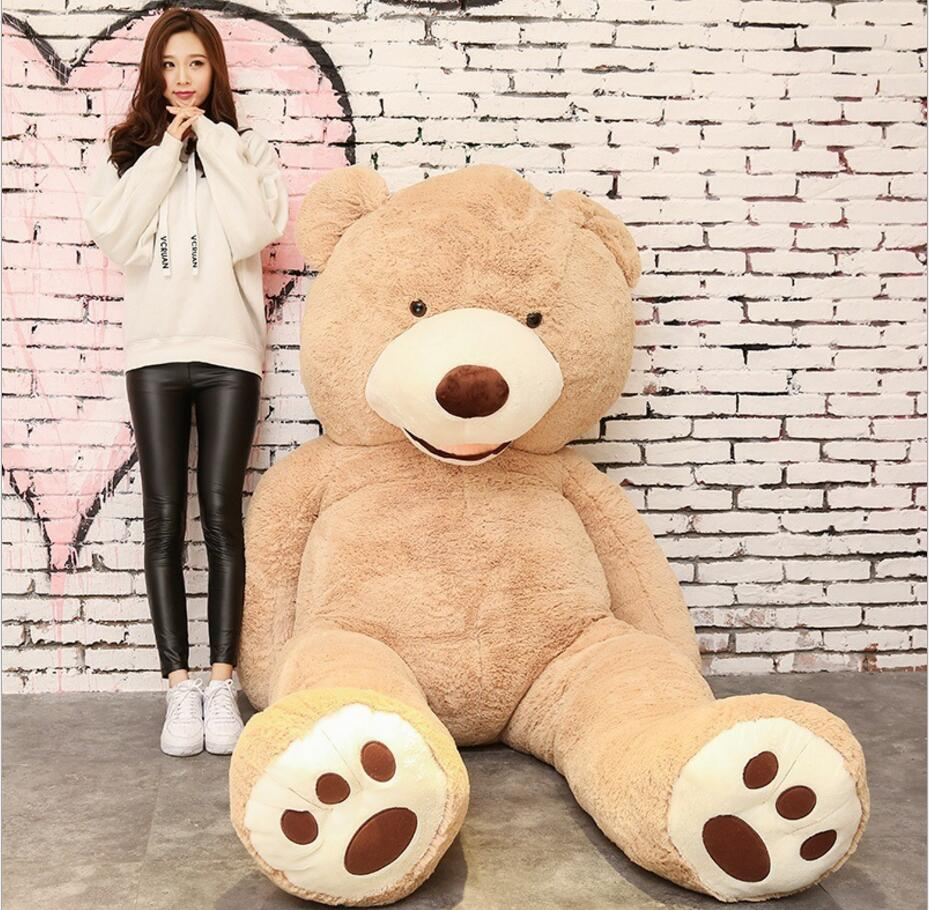 Plush Bear Toys 160cm American Giant Bear Stuffed Teddy Bear Doll Good QualitySoft Toys For Birthday Gift And Valentine's Day fancytrader new style giant plush stuffed kids toys lovely rubber duck 39 100cm yellow rubber duck free shipping ft90122