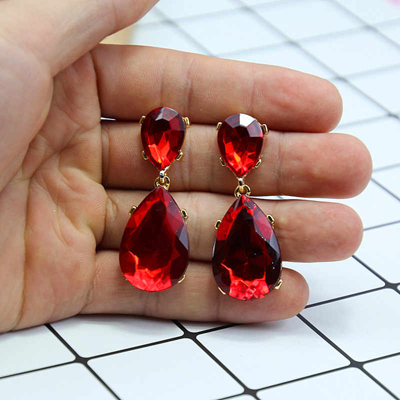 2018 Elegant Crystal Earrings For Women Trendy Hematite Christmas Party Women Earrings