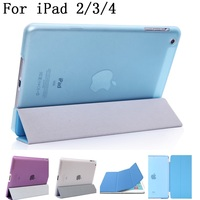 Original Quality PU Leather Stand Flip Cover Shell Case For Ipad 2 3 4 Smart Cover
