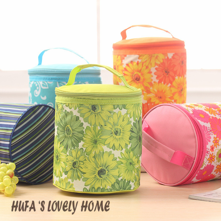 Lovely insulated lunch bag warmer bag cooler bag isothermic bag with 6 different colors