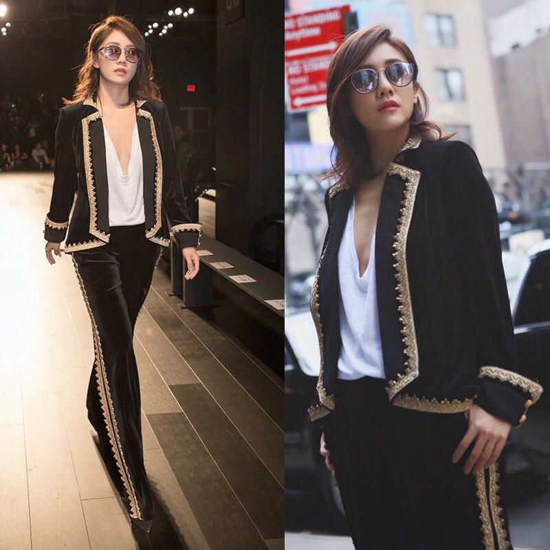 De Pièces Nouvelles 2019 Solides Vêtements Salopettes Plus Femmes Deux Tweed Costumes Femme Taille Survêtement Couleur Coréen Ensembles 1 La qZBwxtHB