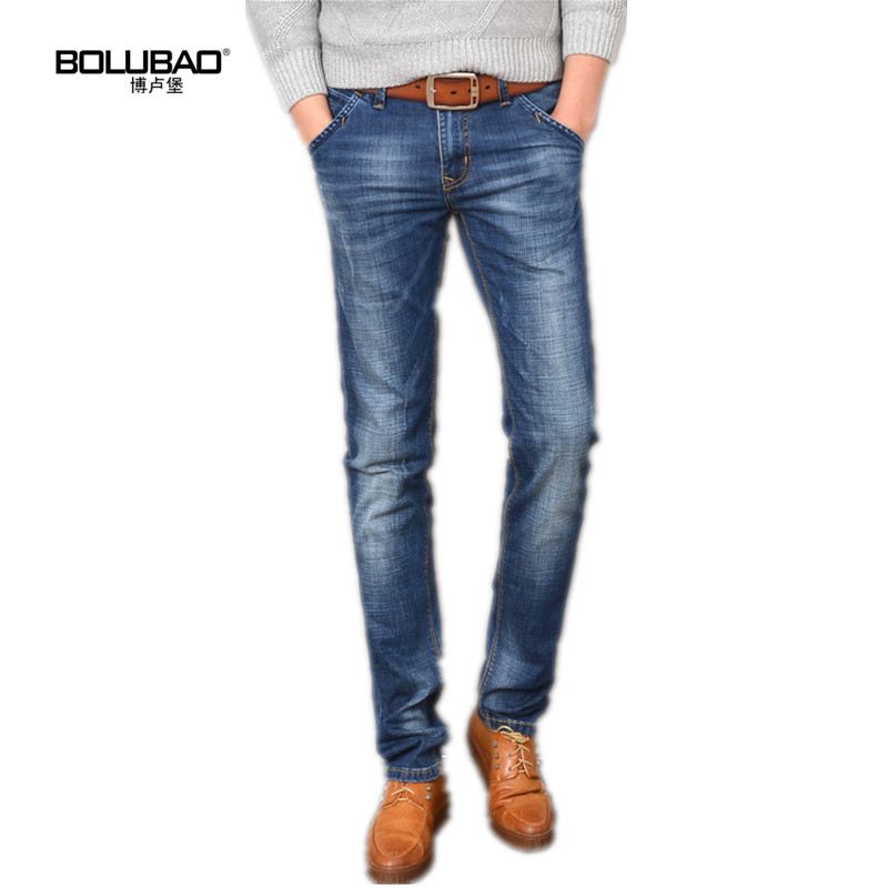 Bolubao New Men Jeans Brand Clothing Fashion Classic Cotton Thicken Stretch Skinny Denim Trousers Slim Male Winter Casual Pants brand jeans men 2017 new fashion spring autumn mens jeans slim fitness cotton pants male brand clothing casual denim trousers