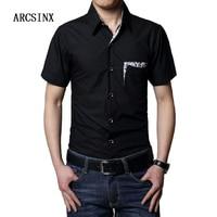 Plus Size Dress Shirts Men 6XL 7XL 8XL Summer Short Sleeve Solid Color Casual Men Shirts