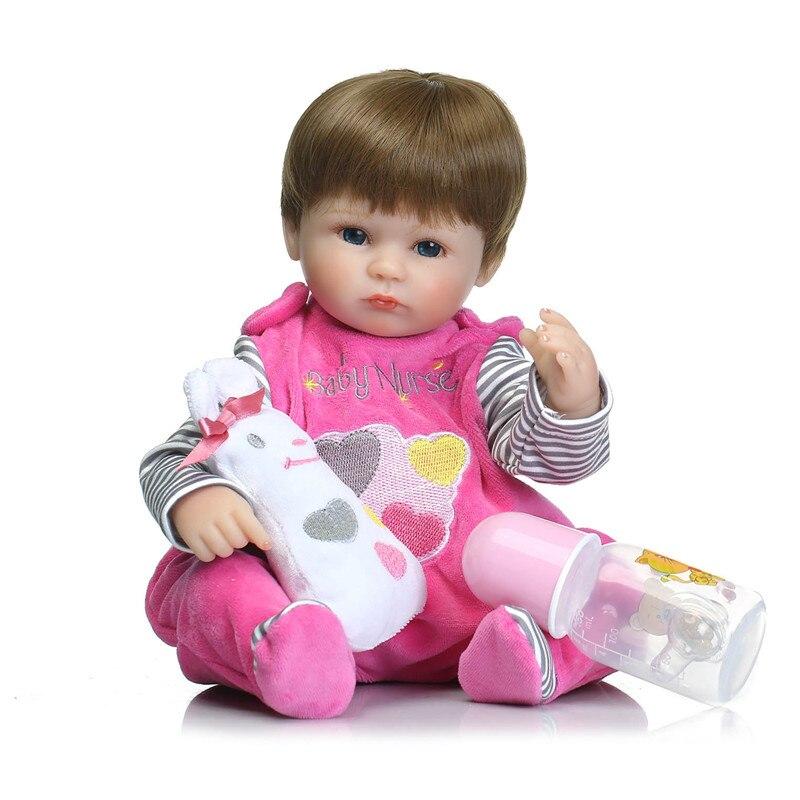 ФОТО Lifelike 40cm baby reborn dolls /silicone reborn babies bonecas children sleeping dolls toys for children