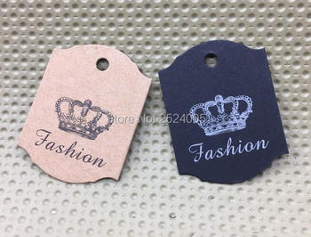 custom clothing kraft paper tag/jewelry price tag/garment printed label/cardboard tag printing/gift packing label 1000 pcs a lot