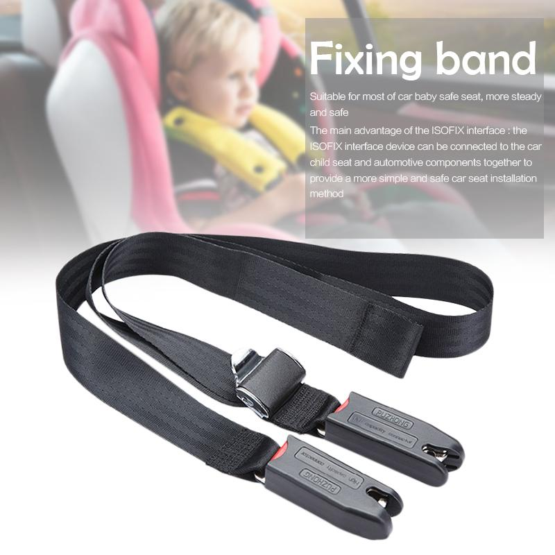 EU Plug Universal Children Safety Seat Belt & Padding With Isofix Connector Soft Connecting Band