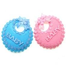 12pcs 2 Baby Bibs Applique For Shower Favors Embellishments/ trim/Shower Craft/Decoration