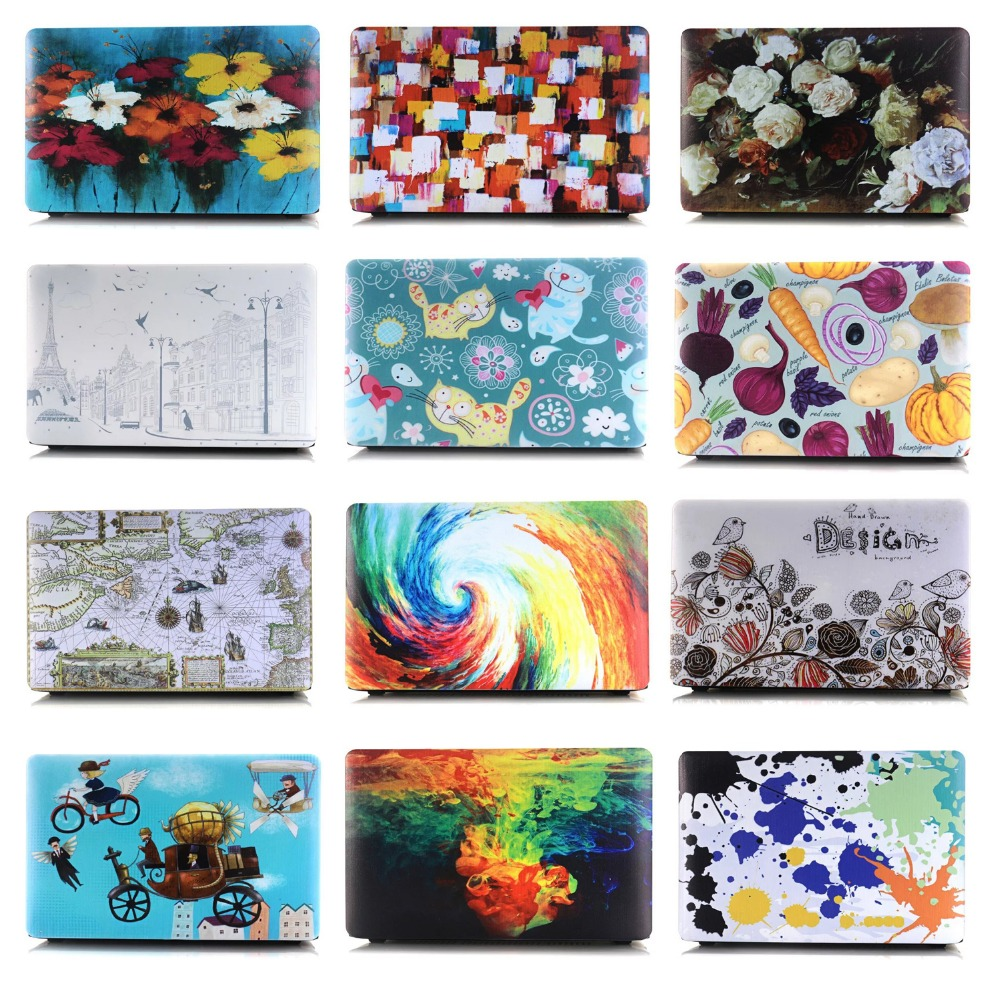 Fashion Oil Painting Cartoon Flower Matte Hard Cover Case For Apple Macbook Air 11 13 Pr ...