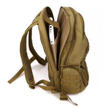 "40L Waterproof Assault Backpack Men Women Camo Outdoor Tactical Bag 14\"" Laptop Backpack Hiking Camping Mountaineering Bag S414"