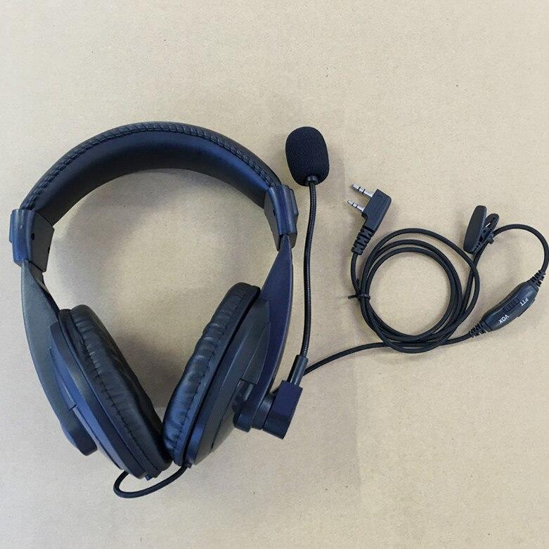Honghuismart Noise Cancelling Hoofdtelefoon VOX MIC K plug voor Kenwood baoFeng, BF-UV5R, WouXun, Puxing enz walkie talkie tweeweg radio