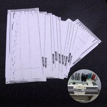 LETAOSK פלסטיק 15pcs סט מראש אגרוף כרטיס ערכת Fit עבור אח KH260 סריגה רקמה מכונה 24 תפר דפוס