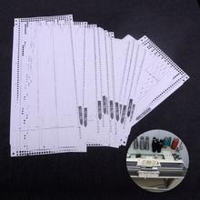 LETAOSK Juego de cartas preperforadas para máquina de costura, 15 unidades, para Brother KH260, 24 patrones de puntadas