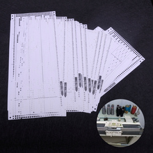 LETAOSK Nhựa 15 Set Trước Đấm Thẻ Bộ Phù Hợp Với Anh Trai KH260 Đan Bộ Kim Chỉ Máy 24 Ga Họa Tiết