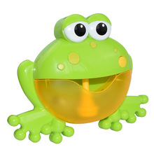 Outdoor Bubble Frog Baby Bath Toy Bubble Maker Swimming Bathtub Soap Machine Toys for Children With Music Water Toy