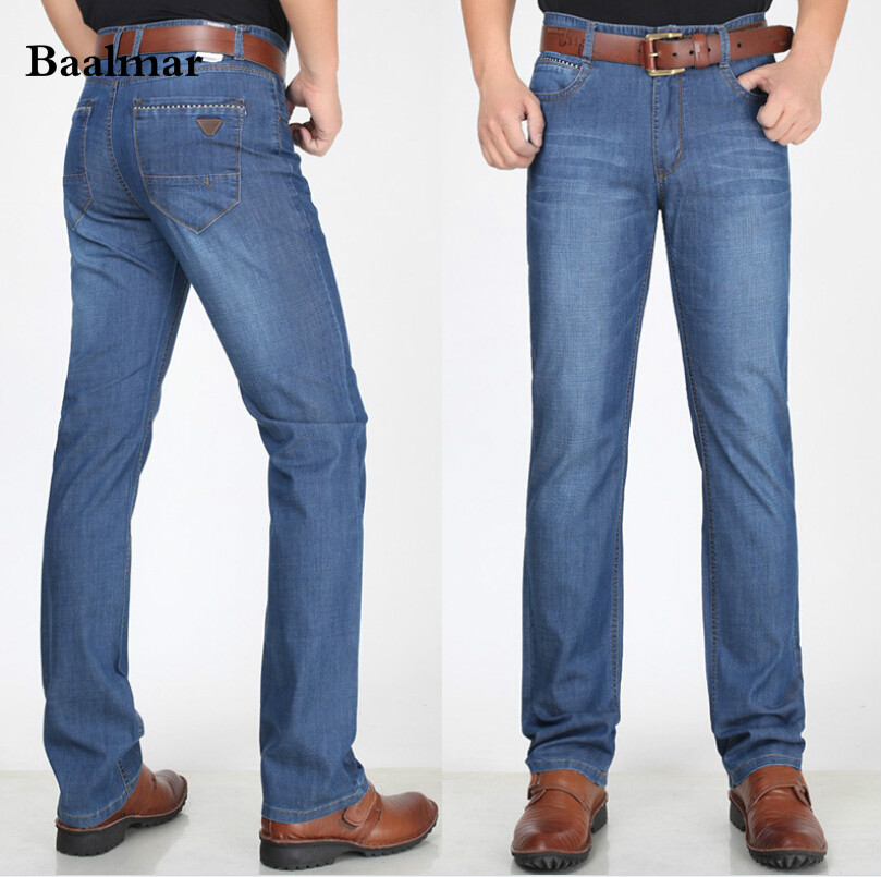 Baalmar spring and Summer Men's clothing male Middle-aged Classical jeans Mid waist jeans Men's Denim pants loose Big Size