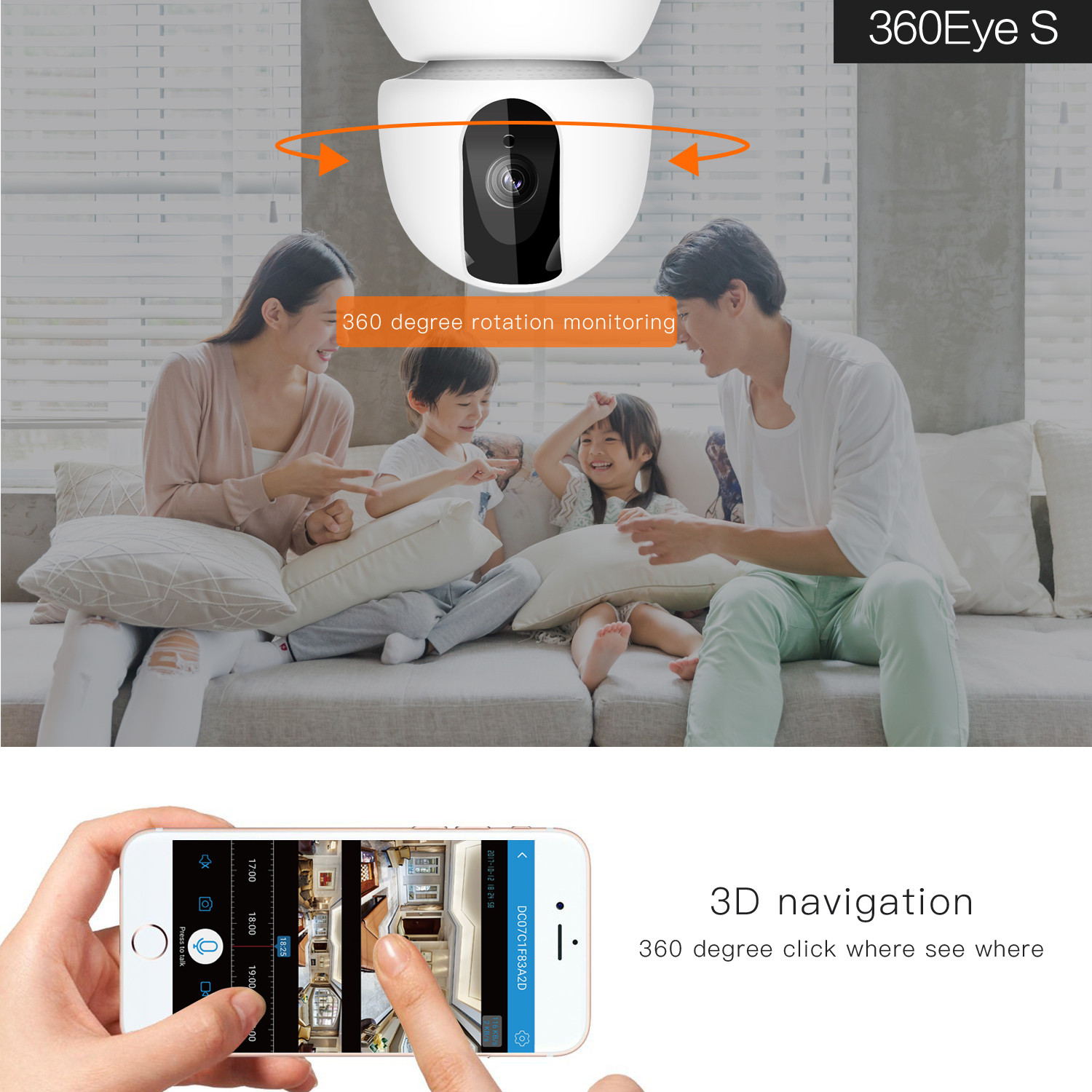 HD 1080P Baby Monitor Cloud Wireless IP Camera Wifi Camera Intelligent Auto Tracking Of Home Security Surveillance VCR CCTV cam in Baby Monitors from Security Protection