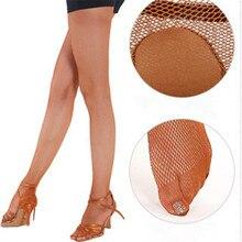 Stockings Latin Dance Fishnet Practice Womens Ladies Mesh Tights Socksfine Small