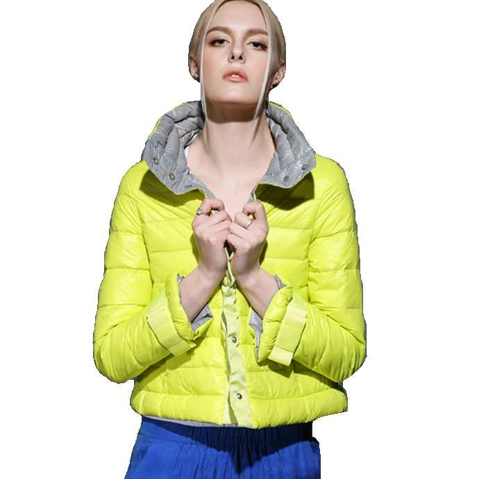 Hohe Qualität 2017 Winter Frauen Kurze Daunenmantel Jacke Weibliche 90% Weiße Ente Unten Flusen Parkas Mantel Outwear