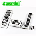 Savanini Footrest Brake Gas Pedal Pad Kit For Benz C180/C260/GLK300/E260L/CLS AT.No Screw! Fashion Style! fit for left hand