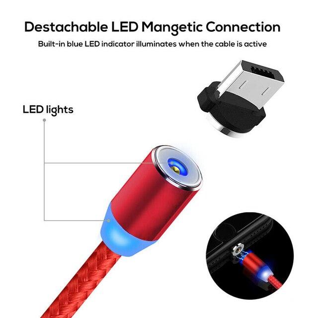 1 ~ 3M magnetyczny szybka ładowarka adapter do kabla ładowarki IOS/Micro/typ C do Samsung HTC 10 HTC One M10 U11