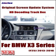 Original Car Screen Update Decoder For BMW X3 (F25) 2013-2016 EVO NBT system Parking Rear view Camera Carplay Interface Adapter цена 2017