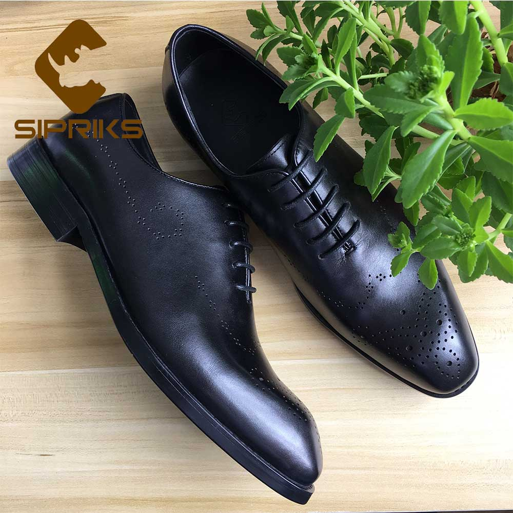 Men/'s Carved Oxford Leather Shoes Casual Pointed Toe Wedding Work Formal Dress