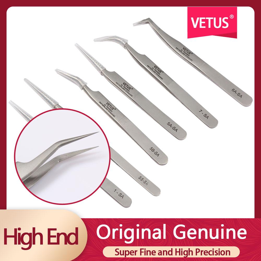 SA High Precision 3d Eyelash Tweezers Vetus Stainless Steel Eyelash Tweezer Volume Fake Eyelashes Tweezers Tools