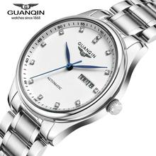 Famosa Marca GUANQIN Hombres Fecha Reloj Mecánico Relojes de Marca de Lujo de Zafiro Hombres Venta Impermeable Reloj Relogio masculino reloj