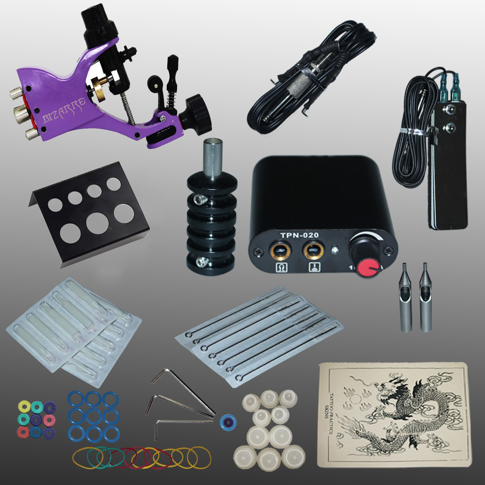 Professional 1 Set 90-264V Complete Equipment Tattoo Machine Gun Power Supply Cord Kit Body Beauty DIY Tools p80 panasonic super high cost complete air cutter torches torch head body straigh machine arc starting 12foot