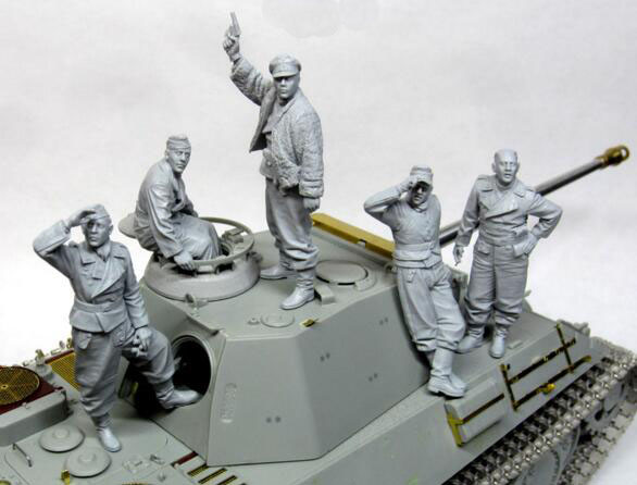 1/35 Resin Figure WW2 German Tank Crew 5pcs/set Model Kits1/35 Resin Figure WW2 German Tank Crew 5pcs/set Model Kits