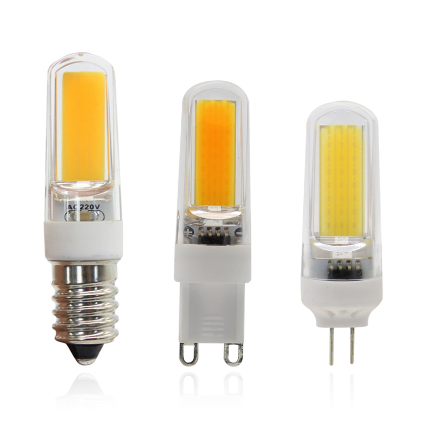 LED Bulbs G4 G9 E14 COB LED Mini Light Bulbs 4W 220V 110V Dimmable Energy Saving Chandelier Lights Replace Halogen Lamps