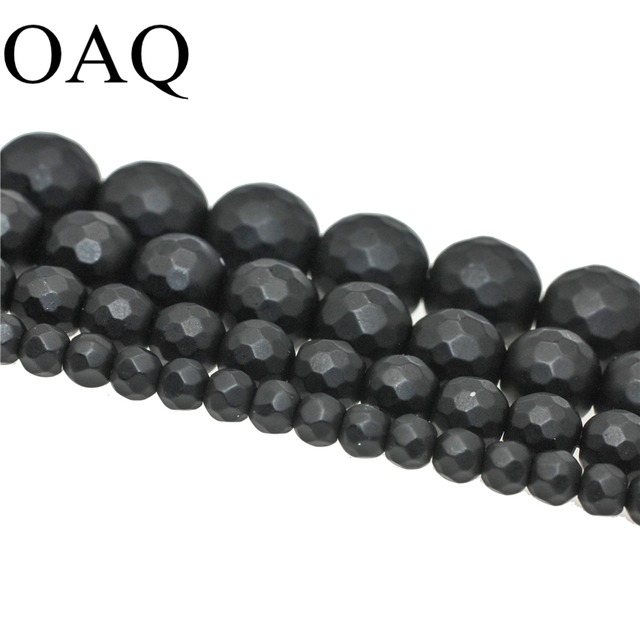 Matte Natural bead Carnelian Agat beads black onyx faceted Natural Stone beads round Diy loose beads bracele for jewelry making