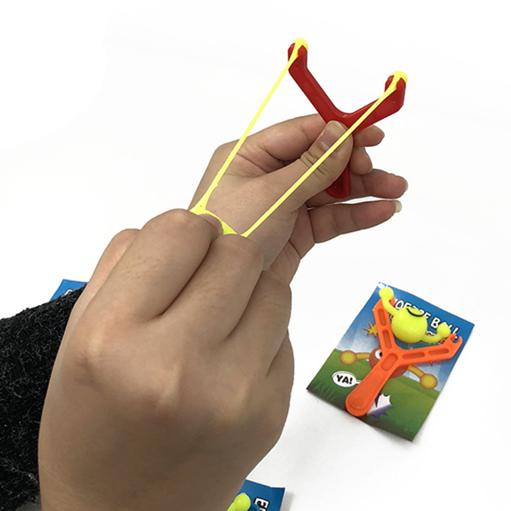 MrY Slingshot Toy Kids Presente com Faixa De Borracha Ao Ar Livre Bola de Espuma Novo
