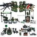 4en1 WW2 GERMAN Army military soldados Building block sets con pistolas y wepons juguetes para los niños