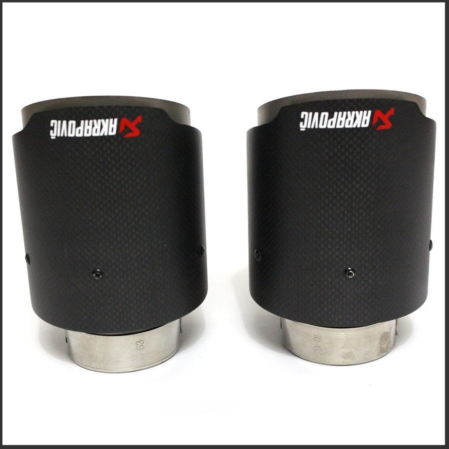 Matte Akrapovic exhaust car car-styling pipe muffler tip carbon fiber (1PCS)