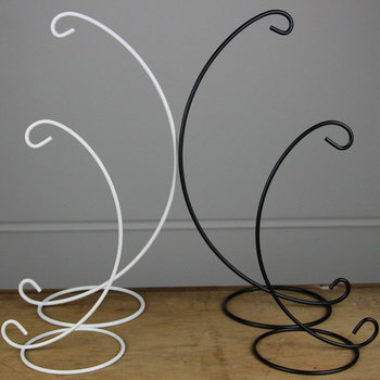 Free Shipping 10pcs/pack Height=32cm Middle Size Iron Material Stand Creative Black and White Metal Support