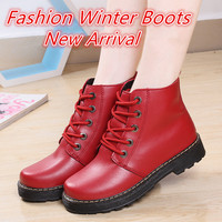 Women S Motorcycle Ankle Boots Genuine Leather Winter Autumn 2016 Casual Shoes For Woman Military Botas