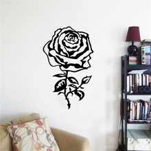 Beautiful Floral Wall Art Rose Vinyl Sticker Modern Design Flower Mural Home Decoraiton Removable Poster AY1770