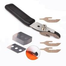 EHDIS Car Wrap Vinyl Sticker Cutting Teflon Cutter Knife+10pcs Steel Blades Auto Carbon Fiber Foil Wrapping Film Cut Accessories