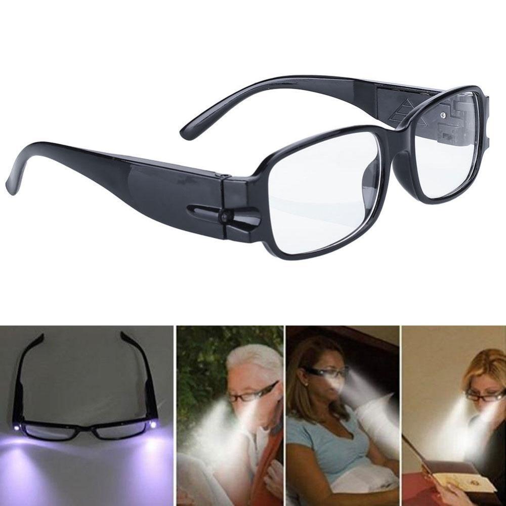 Reading Eye Eyeglasses Bedroom Spectical LED Light Black Portable Hiking Glasses