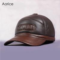 HL062 2 New Men S 100 Genuine Leather Baseball Cap Newsboy Beret Cabbie Hat Golf HatS