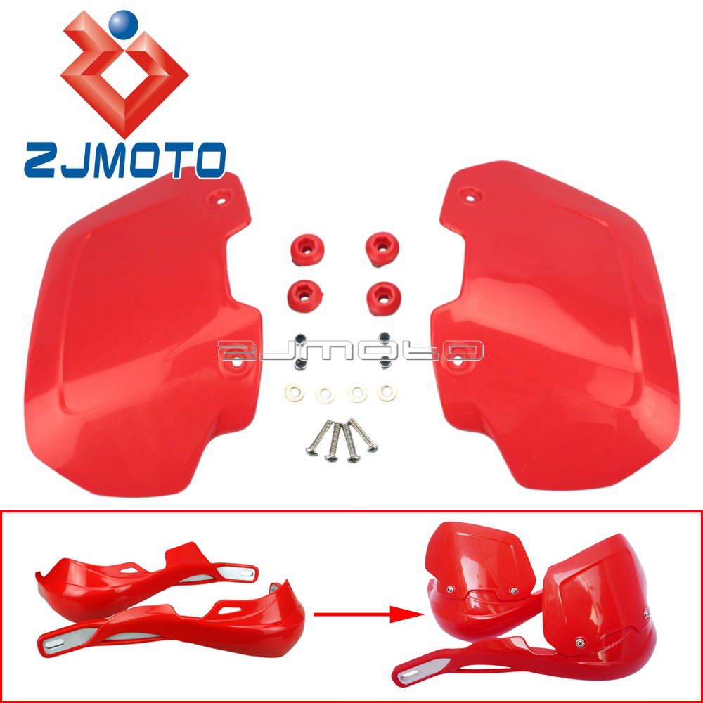Motorcycle Handguards Extension Wind Protector Shield Motorbike Handguards Windshield Rising Heighten Plastic Cover(China)