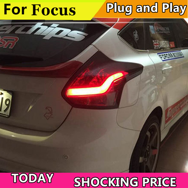 Car styling For Ford Focus 2 Hatch back Taillights 2012 2013 2014 LED Tail Lamp Rear