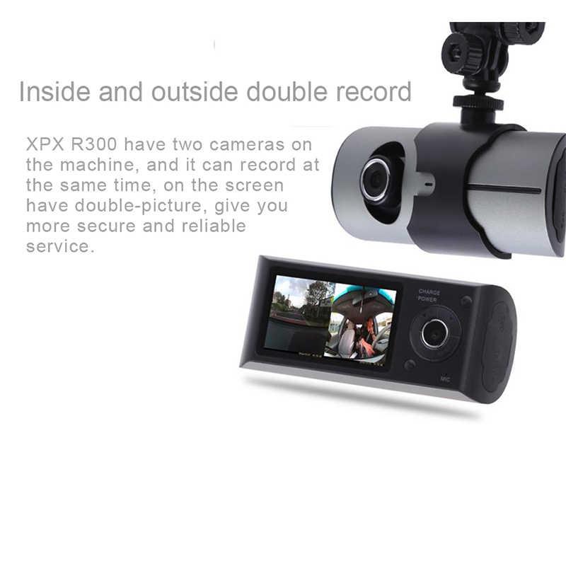 Регистраторы XPX R300 Видеорегистраторы для автомобилей камеры автомобиля gps HD Две камеры