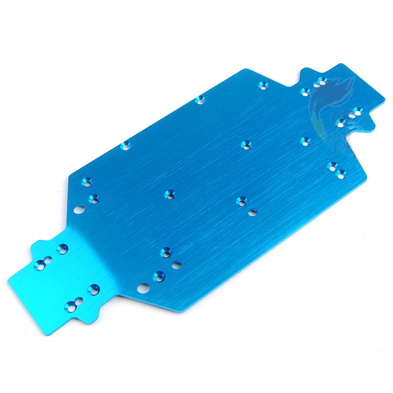 Metal Chassis Upgrade Bottom Plate Board 28004 Fr RC 1/16 HSP Car 94182/94182pro/94163/94185/94185pro/94186/94186pro/94183/94187