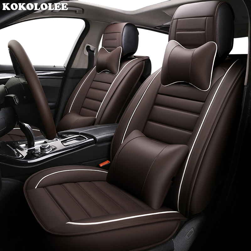 KOKOLOLEE auto PU leather car seat cover anti slip car seat cushion for Suzuki Jimny Grand