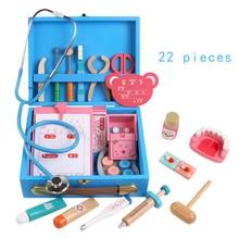 Детская деревянная игрушка-доктор для моделирования, медицинская коробка, игрушки, стетоскоп, инъекции, детские подарки, развивающие игрушки