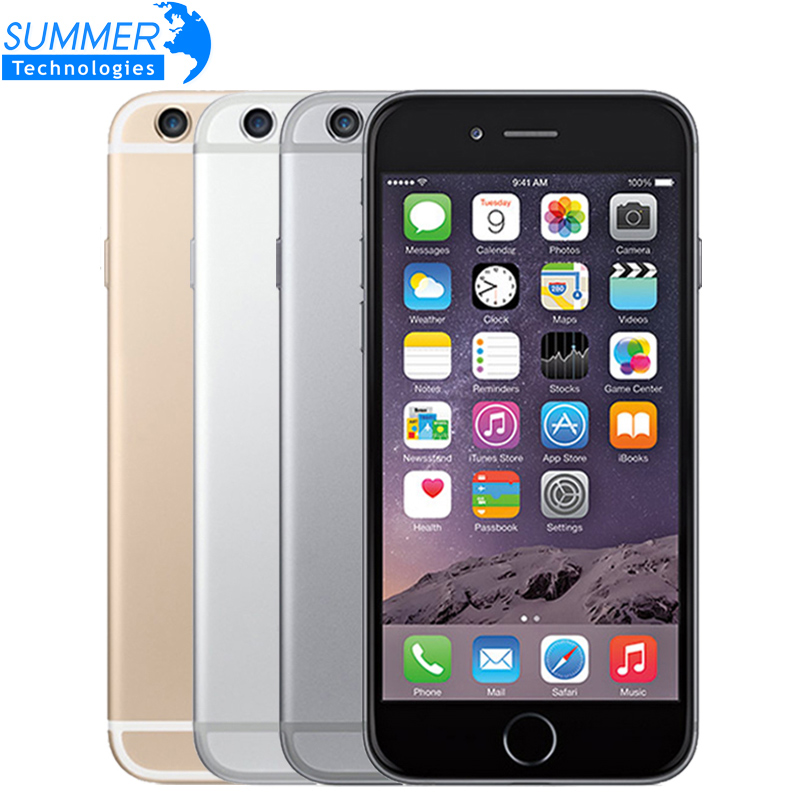 Original Unlocked Apple IPhone 6 IOS IPS Cell Phones  1GB RAM 16G 64G 128G ROM GSM WCDMA LTE Fingerprint Used Mobile Phone