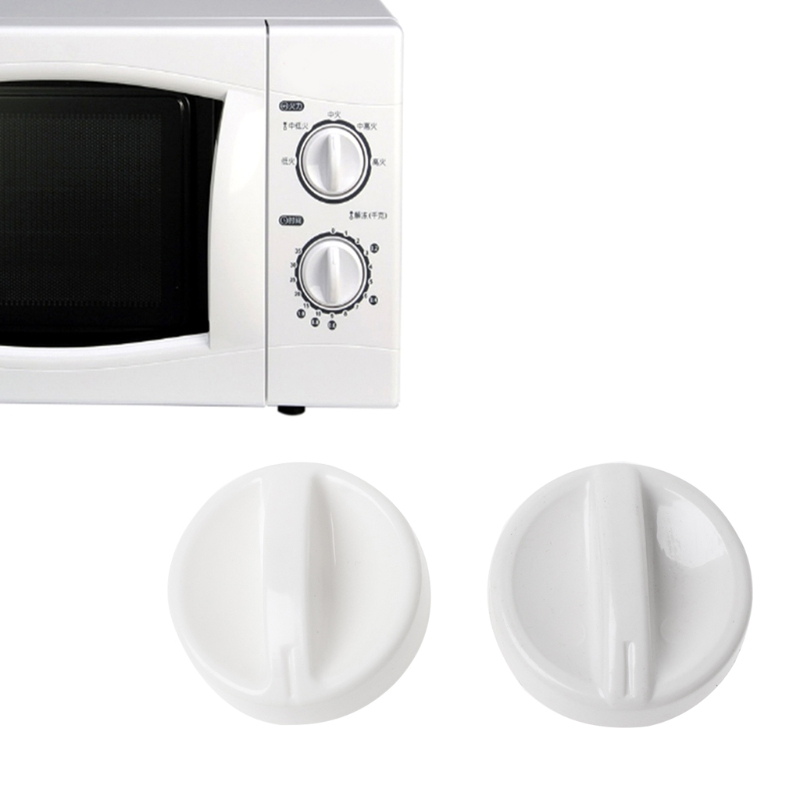 2Pcs Universal Microwave Oven Plastic Spool Rotary Knob Timer Control Switch New2Pcs Universal Microwave Oven Plastic Spool Rotary Knob Timer Control Switch New