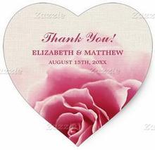 1.5inch Elegant Pink Rose Design Wedding Favor Stickers